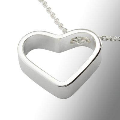 Necklace silver heart