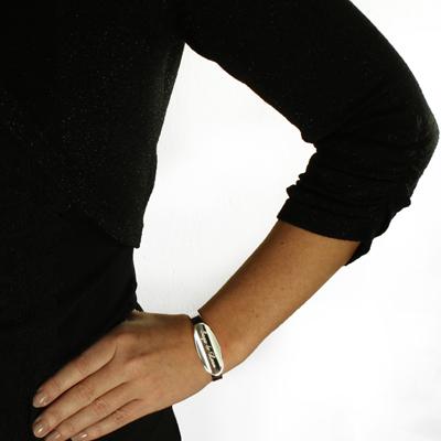 Armband i silver Ellips