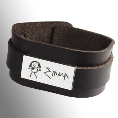 Läder armband My hero (bild)