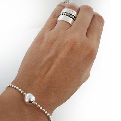 Armband silverkula