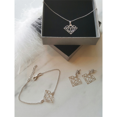 Armband diamantform