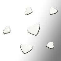Small silver hearts